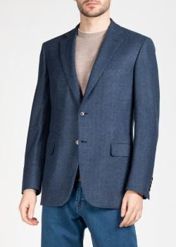 Шерстяной пиджак Brioni с шевронным узором, фото