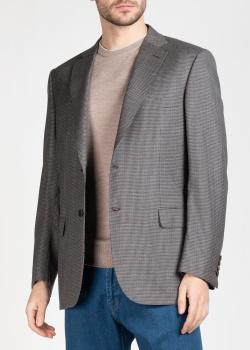 Клетчатый пиджак Brioni из шерсти, фото