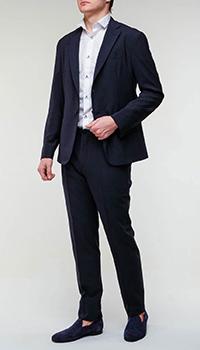 Клетчатый костюм Emporio Armani синего цвета, фото