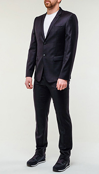 Синий костюм Emporio Armani из шерсти, фото
