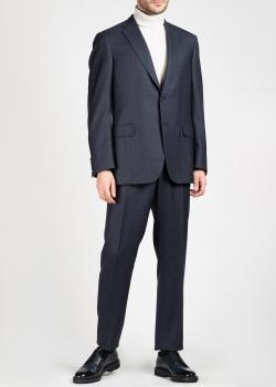 Серый костюм Brioni в крупную клетку, фото