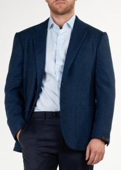 Шерстяной пиджак Sartorio Napoli синего цвета, фото