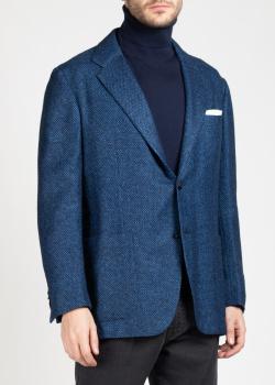 Мужской пиджак Kiton синего цвета, фото