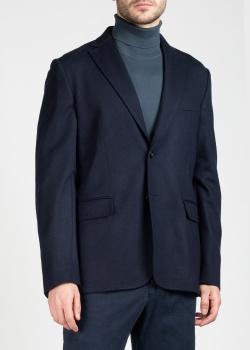 Шерстяной пиджак Brioni синего цвета, фото
