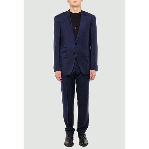 Синий костюм Hugo Boss с дополнительным карманом, фото