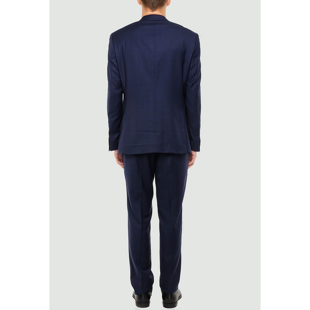 Синий костюм Hugo Boss с дополнительным карманом