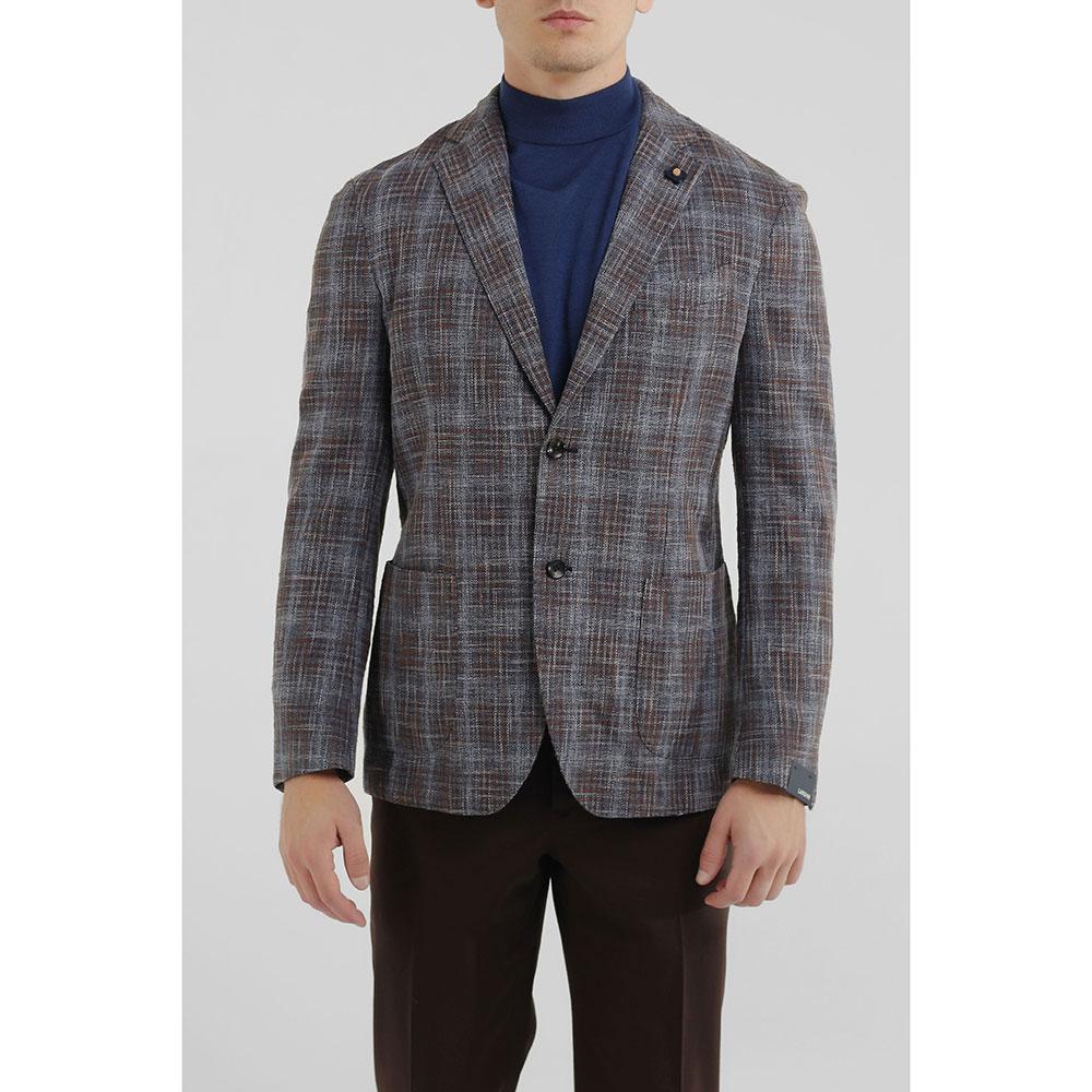 Клетчатый пиджак Lardini на две пуговицы