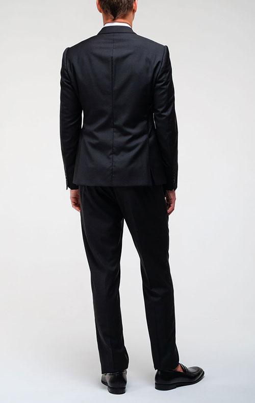 Черный пиджак Emporio Armani на две пуговицы, фото