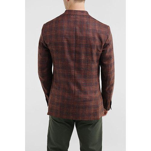 Клетчатый пиджак Lubiam коричневого цвета, фото