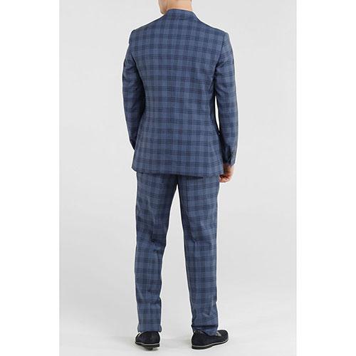 Синий костюм Lubiam в клетку, фото