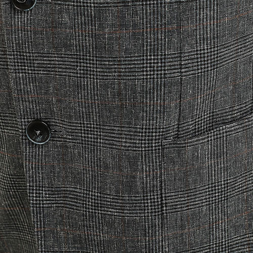 Льняной пиджак Lubiam в клетку синего цвета, фото