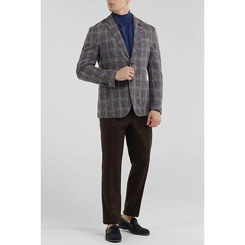 Клетчатый пиджак Lardini на две пуговицы, фото