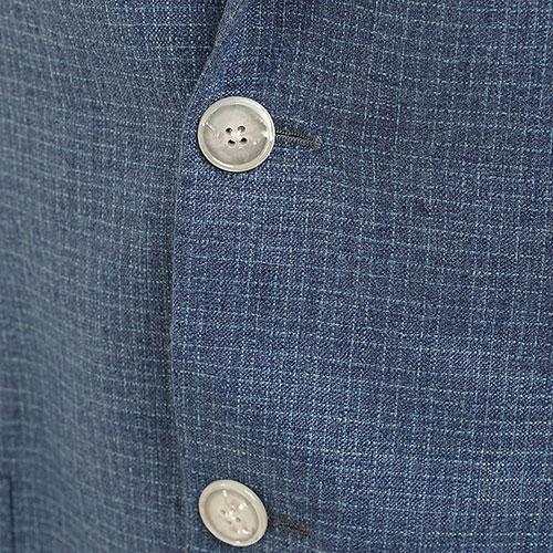 Синий пиджак Barba из шелка и кашемира, фото