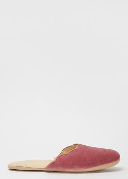 Домашние тапки La Perla Home Set Impianto Tacco розового цвета, фото