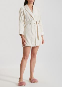 Белый халат La Perla Home Cleopatra Accappatoio до колен, фото