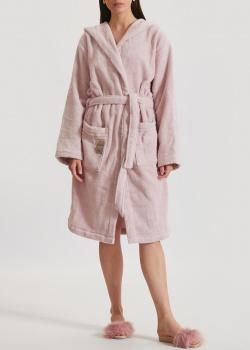 Розовый халат Fazzini Home Coccola Accappatoio с капюшоном, фото