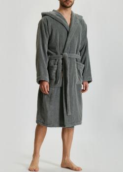 Мужской халат Fazzini Home Coccola Accappatoio серого цвета, фото