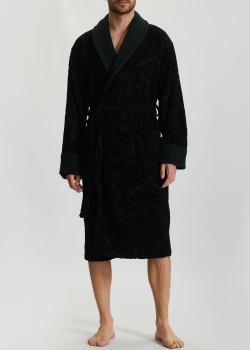Мужской халат La Perla Home Lumiere Accappatoio черного цвета, фото