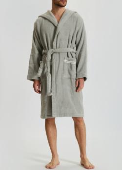 Мужской халат La Perla Home Macrame Accappatoio серого цвета, фото