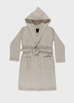 Мужской халат La Perla Home Adone Accappatoio серого цвета, фото