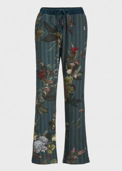 Зеленые брюки для дома Pip Studio Babbet с цветочным принтом, фото
