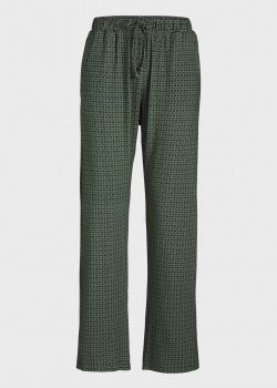 Зеленые домашние брюки Pip Studio Babbet с орнаментом, фото