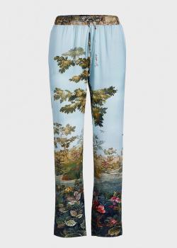 Голубые брюки Pip Studio Babbet для дома с пейзажным принтом, фото