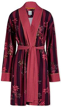 Халат с цветочным принтом Pip Studio Nisha бордового цвета, фото