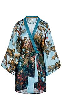 Голубое кимоно Pip Studio Noon с рукавом три четверти, фото