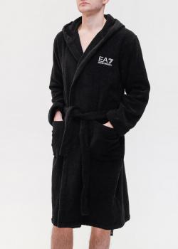 Мужской халат Ea7 Emporio Armani с логотипом на капюшоне, фото