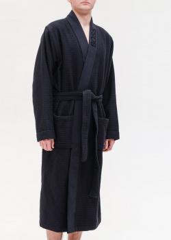 Мужской халат Hugo Boss темно-синего цвета, фото