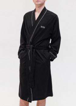 Мужской халат Hugo Boss черного цвета, фото