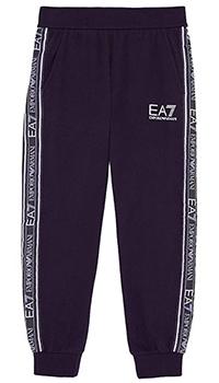 Спортивные брюки Ea7 Emporio Armani с лампасами, фото