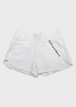 Детские шорты EA7 Emporio Armani белого цвета, фото