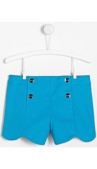 Голубые детские шорты Jacadi из хлопка, фото