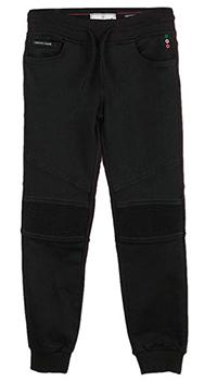Черные спортивные брюки Philipp Plein для мальчика, фото
