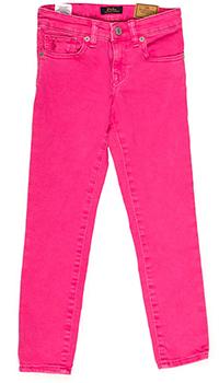 Ярко-розовые брюки Polo Ralph Lauren с высокой талией, фото