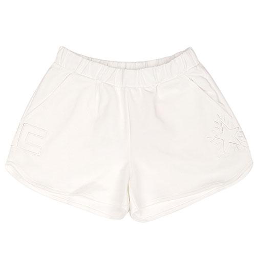 Трикотажные шорты Elisabetta Franchi белого цвета, фото