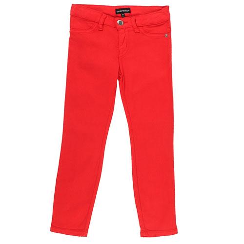 Красные брюки Emporio Armani со значком-лого на кармане, фото