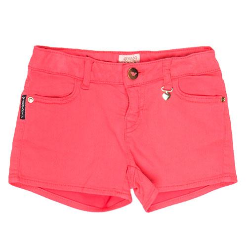Короткие шорты Emporio Armani красного цвета, фото