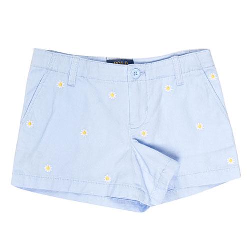 Голубые шорты Polo Ralph Lauren с ромашками, фото