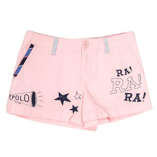 Короткие розовые шорты Polo Ralph Lauren с рисунками, фото