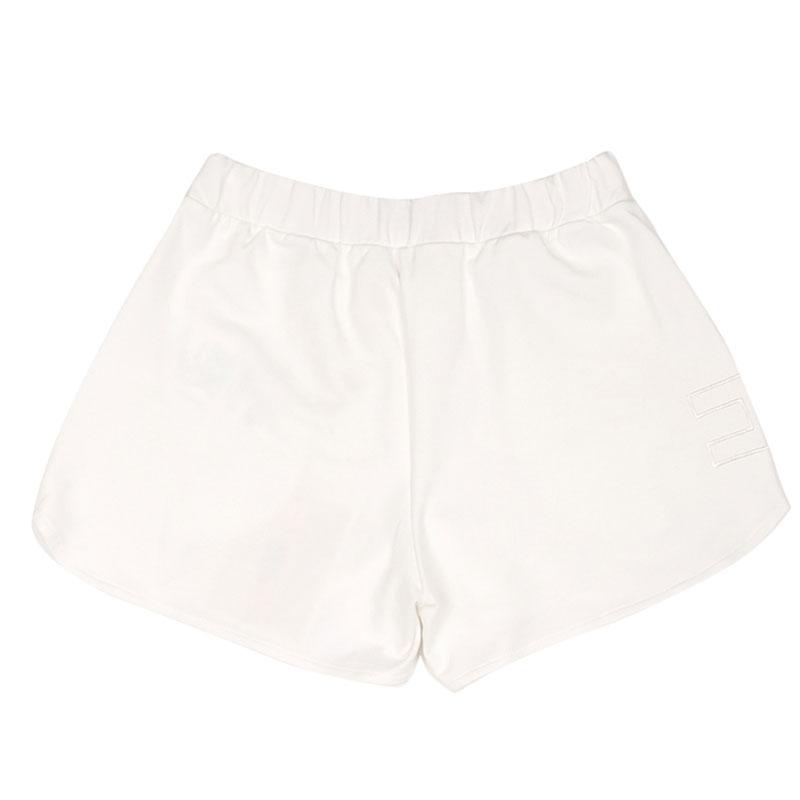 Трикотажные шорты Elisabetta Franchi белого цвета