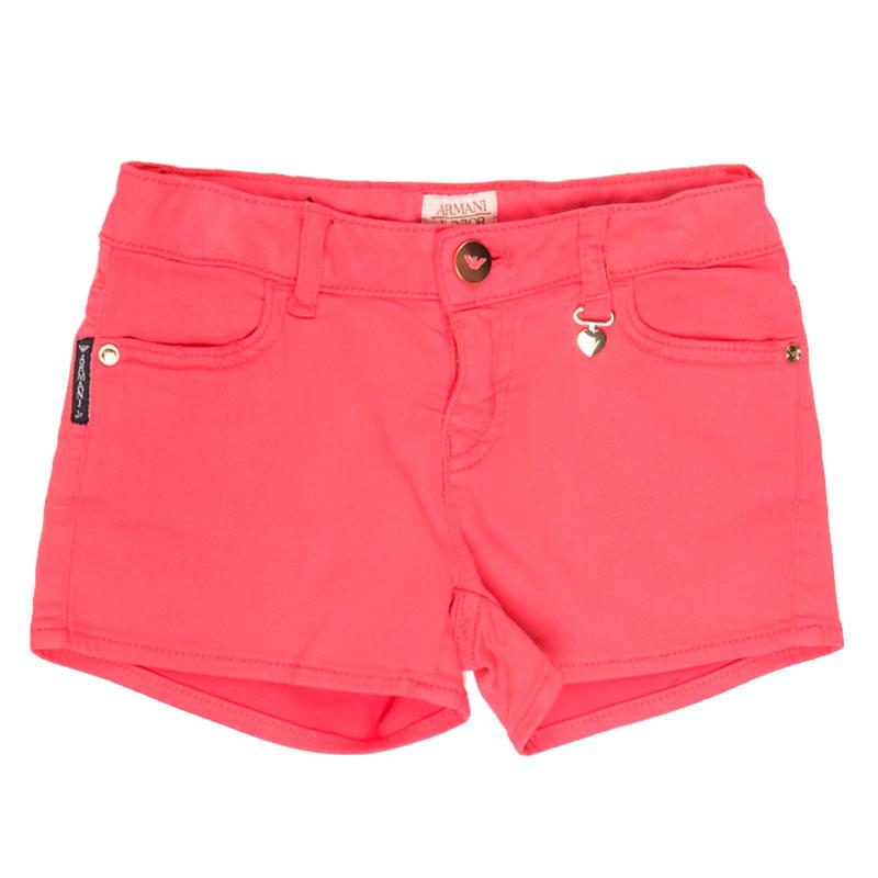 Короткие шорты Emporio Armani красного цвета