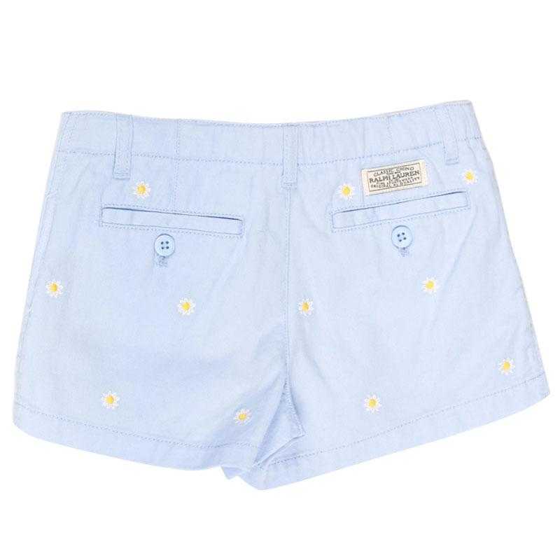 Голубые шорты Polo Ralph Lauren с ромашками