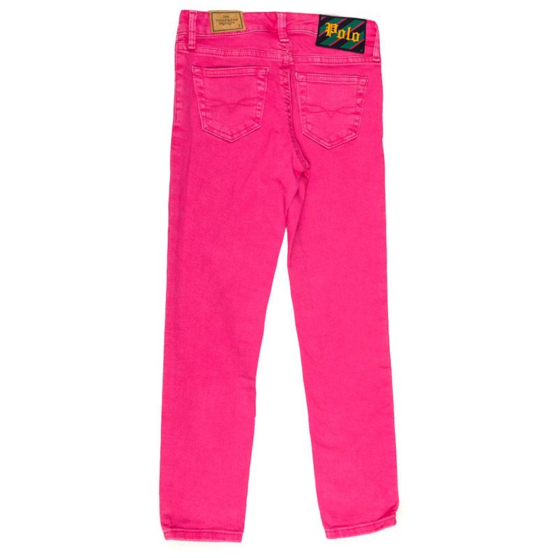 Ярко-розовые брюки Polo Ralph Lauren с высокой талией