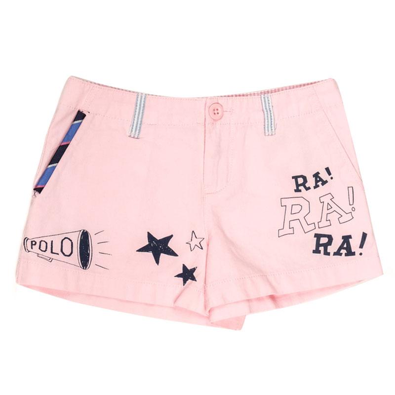 Короткие розовые шорты Polo Ralph Lauren с рисунками