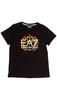 Черная футболка Emporio Armani с принтом, фото