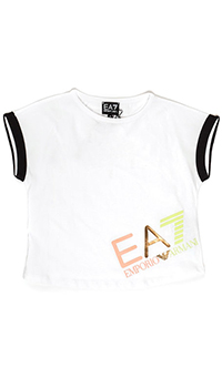 Оверсайз футболка Emporio Armani белого цвета, фото