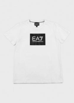 Детская футболка EA7 Emporio Armani с принтом-лого, фото